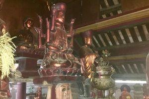 Độc đáo bức tượng 'đầu người đội Phật' nghìn năm tuổi ở Nghệ An