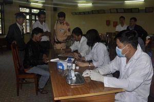 Kiểm tra ma túy với 100% lái xe trên địa bàn tỉnh Kon Tum