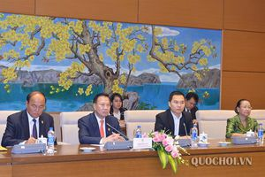 Hội đàm giữa Chủ nhiệm Ủy ban Đối ngoại Nguyễn Văn Giàu và Chủ tịch Ủy ban Đối ngoại, Hợp tác quốc tế, Truyền thông Quốc hội Campuchia Chheang Vun