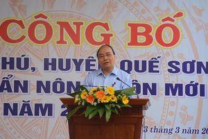 Thủ tướng dự lễ công bố đạt chuẩn nông thôn mới tại quê nhà