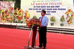 Khánh thành khu Di tích quốc gia đặc biệt Căn cứ Tà Thiết và họp mặt truyền thống tỉnh Bình Phước - Bình Dương