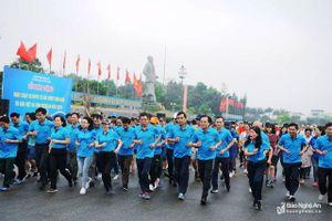 Nghệ An: Hơn 1.800 người tham gia 'Ngày chạy Olympic vì sức khỏe toàn dân'