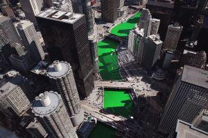 Dòng sông nhuộm xanh ở Chicago vào top ảnh tuần