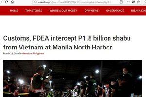 Phá đường dây ma túy 'khủng': Phối hợp với Philippines bắt thêm 276 kg ma túy đá
