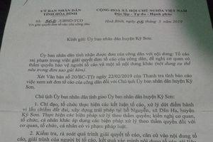 Cần thực hiện nghiêm chỉ đạo của Chủ tịch UBND tỉnh Hòa Bình