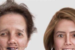 Màn photoshop như 'cú lừa', biến người già thành cô gái trẻ