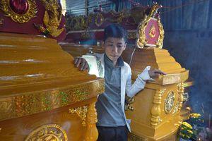 Tang thương lễ tang 3 người bị container đè chết thảm ở Đồng Tháp