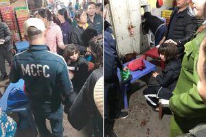 Điều tra nghi án nổ súng, cướp tiền ở chợ Long Biên