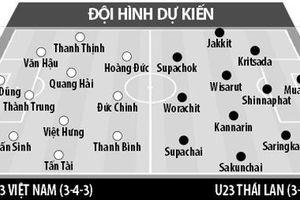 Đội hình U23 Việt Nam-Thái Lan: Thầy Park đi nước cờ cao tay