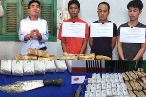 BĐBP Quảng Bình bắt gọn 4 đối tượng cầm đầu đường dây ma túy xuyên quốc gia