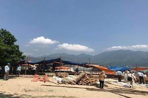 Đà Nẵng: Tháo dỡ các lều quán dựng trái phép tại bãi Rạn Nam Ô