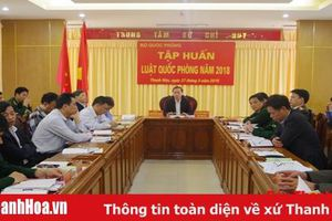 Hội nghị Trực tuyến tập huấn Luật Quốc phòng