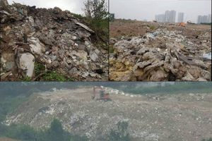 Cần xử lý nghiêm tình trạng đổ trộm phế thải chất như 'núi' ở phường Xuân La
