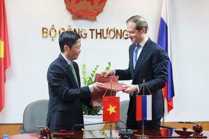 Cuộc gặp giữa Bộ trưởng Bộ Công Thương Việt Nam và Bộ trưởng Công Thương LB Nga