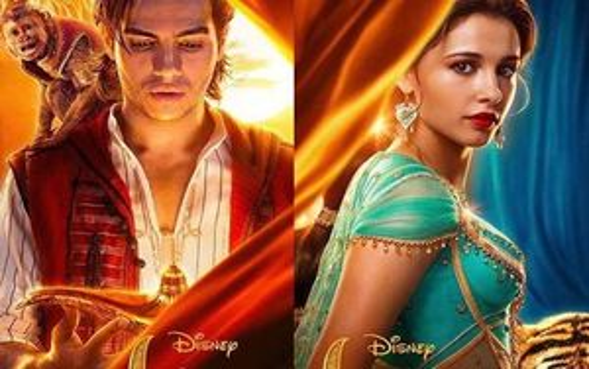 Disney tung poster mới 'xinh lung linh' từ dàn nhân vật chính 'Aladdin'