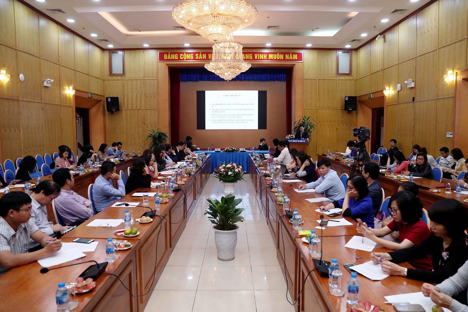 Lễ khởi động Dự án hỗ trợ kỹ thuật 'Nâng cấp và phát triển Hệ thống thông tin quốc gia về đầu tư'