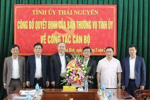 Thái Nguyên: Chánh Thanh tra tỉnh được điều động làm Bí thư Huyện ủy Phú Bình