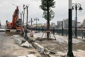 Hải Phòng: Khắc phục sự cố sụt lún tại vỉa hè đường Tam Bạc