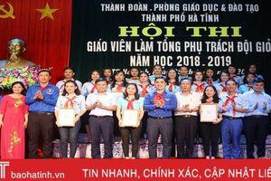 18 thí sinh TP Hà Tĩnh tranh tài 'Giáo viên – Tổng phụ trách đội giỏi'