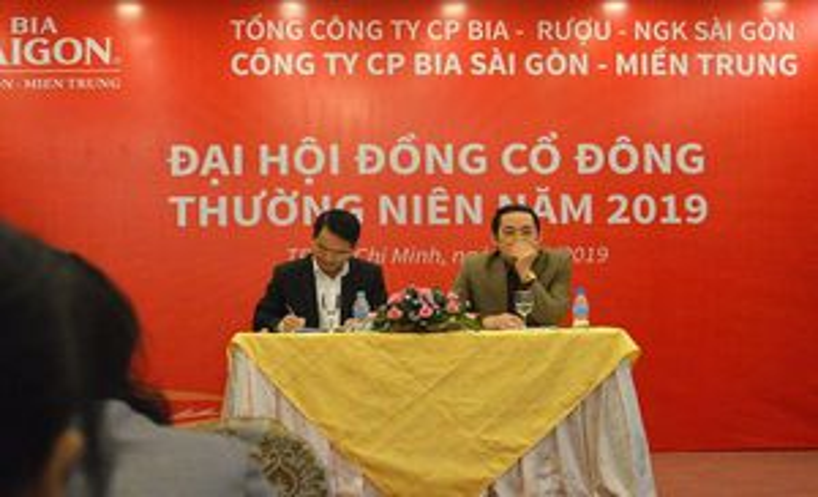 Đại hội đồng cổ đông Bia Sài Gòn Miền Trung (SMB): Chia cổ tức năm 2018 bằng tiền, tỷ lệ 40%