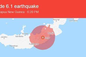 Động đất 6,1 độ richter, Papua New Guinea rung chuyển