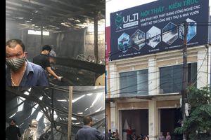 Hà Nội: Cháy lớn tại xưởng gỗ ở khu Công nghiệp Bình Phú, Thạch Thất