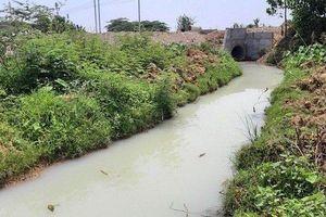 Vụ nước thải trắng đục tuôn ra môi trường: Xem xét xử lí 2 công ty lén xả thải