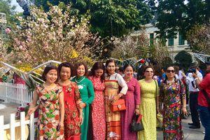 Nghìn người nô nức đổ về phố đi bộ Hà Nội tham gia Lễ hội hoa anh đào