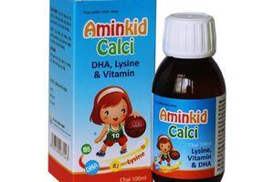 Cục ATTP cảnh báo không mua Aminkid Calci trên một số website