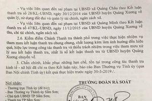 Chánh Thanh tra thành phố Sầm Sơn bị đề nghị kiểm điểm vì thiếu trách nhiệm