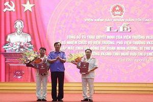 Công bố, trao quyết định bổ nhiệm lãnh đạo VKSND Phú Thọ và Viện Cấp cao 3
