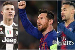 10 cầu thủ giàu nhất thế giới: Messi kiếm hơn 3 nghìn tỷ, vượt xa Ronaldo