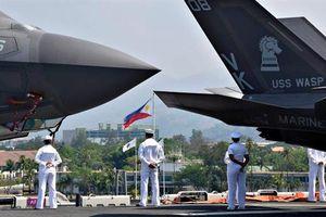 Mỹ thừa nhận sốc khi điều F-35B đến Philippines tập trận