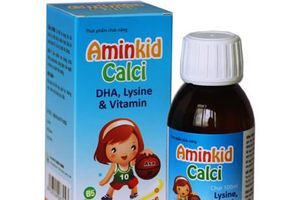 Cẩn trọng với thông tin quảng cáo thực phẩm bảo vệ sức khỏe Aminkid Calci
