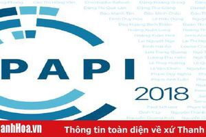 Công bố Chỉ số PAPI 2018: Thanh Hóa xếp thứ 11