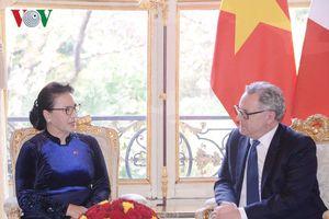 Chủ tịch QH Nguyễn Thị Kim Ngân hội đàm với Chủ tịch Hạ viện Pháp