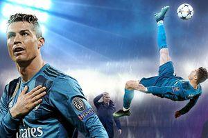 Tròn 1 năm Ronaldo móc bóng làm tung lưới Juve ở Champions League