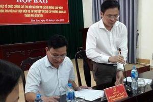 Thanh Hóa: Họp báo thông tin cưỡng chế đất tại Sầm Sơn