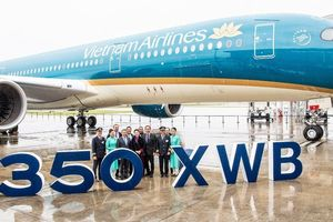 Vietnam Airlines nhận siêu máy bay thân rộng Airbus A350 cuối cùng
