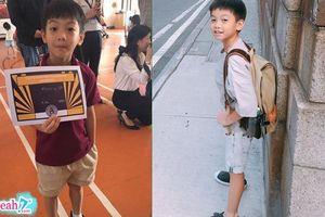 Cường Đôla tự hào khoe clip quý tử Subeo nói tiếng anh trôi chảy dù mới 9 tuổi