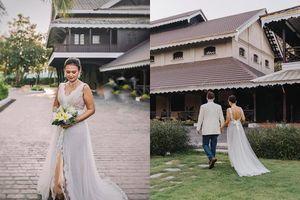 Chồng cũ Hồng Nhung lấy vợ mới, cận cảnh đôi 'tân lang, tân nương' trong ngày cưới