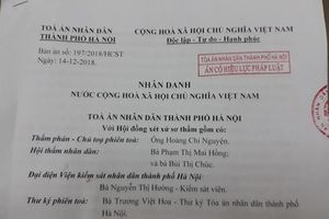 Không chấp nhận kháng cáo của Bộ trưởng Giáo dục và Đào tạo
