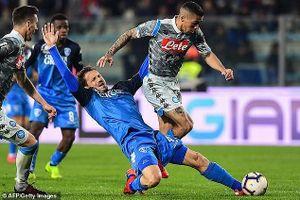 Vòng 30-Serie A: Napoli và Lazio bất ngờ bại trận, Inter Milan thắng đậm