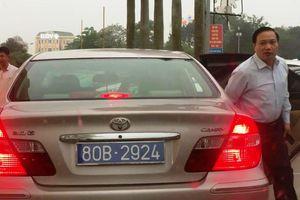 Vụ Phó bí thư thường trực tỉnh Ninh Bình sử dụng ô tô biển 80B: Trả lời ngụy biện