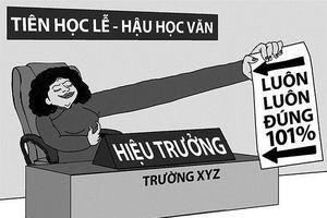 Tại Hà Nội, cấp trên đánh giá hiệu trưởng, giáo viên không được tham gia
