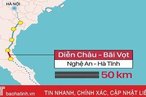Bộ GTVT bàn giao mốc lộ giới dự án cao tốc Bắc - Nam cho Hà Tĩnh