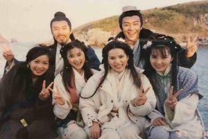 Rò rỉ ảnh hiếm về hậu trường phim 'Thiên long bát bộ' 1997