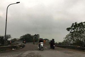 Cầu qua sông Nhuệ đã được sửa chữa kịp thời
