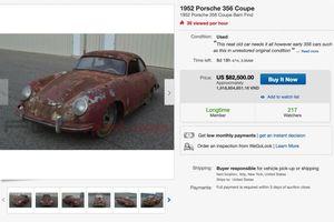 Như sắt vụn, Porsche 356 Coupe cũ nát vẫn được rao bán với giá ngất ngưởng