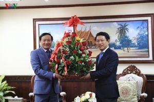 Đại sứ Việt Nam tại Lào chúc Tết cổ truyền Bunpimay
